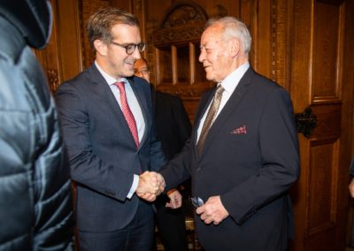 11.01.2019 Empfang Rathaus Regierungsrat Conradin Cramer (l.) mit OK-Präsident Willy Bürgin